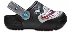 Zapato Crocs Infantil Funlab Tiburón Con Luces