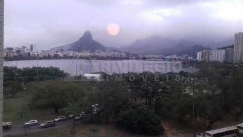 Apartamento À Venda, 2 Quartos, 1 Vaga, Lagoa - Rio De Janeiro/rj - 16336