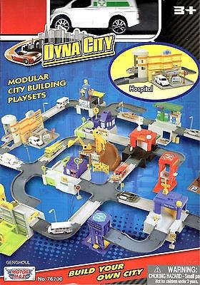 Set Hospital Para Armar Dyna City + Un Auto Orig. Motor Max