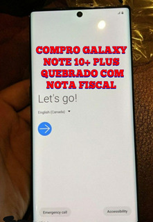 Comproo Galaxy Note 10+ Plus C/display Quebrado Cm Nt Fiscal