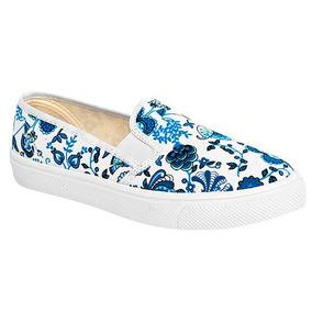 Zapatos Sneaker Flats Tovaco Dama Textil Blanco U00667 Dtt