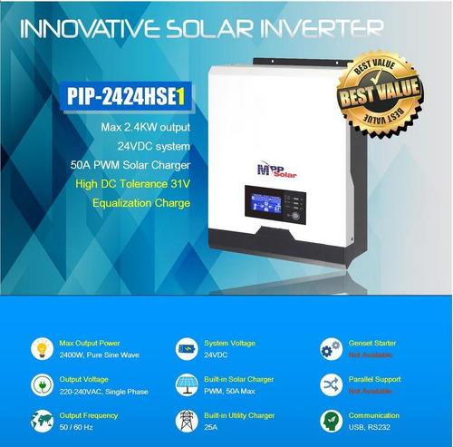Inversor Cargador 2400w Onda Pura Pwm 50a Soporta Pico 4800w
