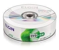 Imagem 1 de 2 de 25 Midia Virgem Dvd+rw Elgin 4x 4.7gb C/logo (shrink)