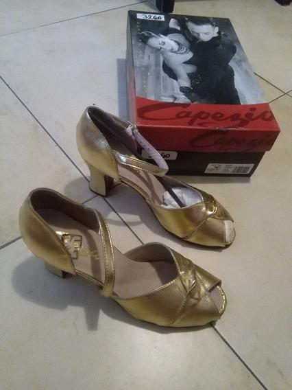 Zapatos Capezio Mujer Cuero Dorados T 37,5 Leer Descripcion
