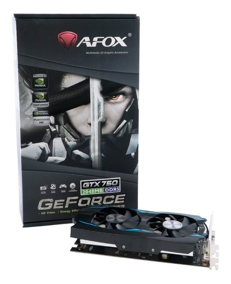 Placa Video Geforce Gtx750 Ti 2gb Ddr5 Hdmi Dvi Vga Gamer