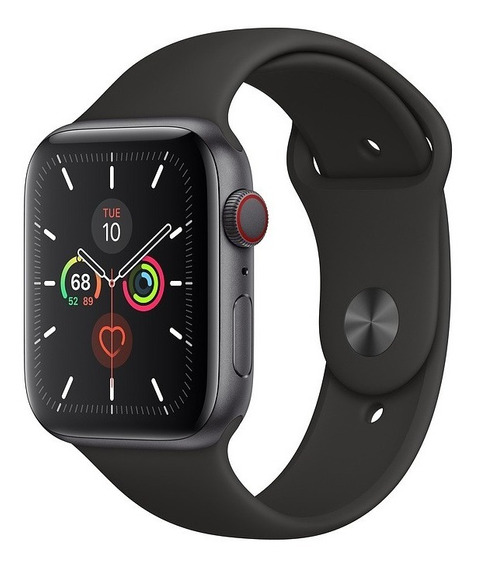 Apple Watch 5 Com Pulseira Sport Preta 44mm, Celular Ativo
