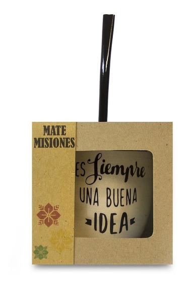 Mate Con Bombilla - Diseños Y Colores Varios