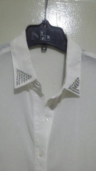 Camisa Talle L C Apliques .poco Uso