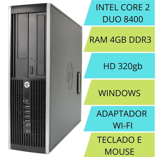 Computador/ Pc Intel Core 2 Duo 4gb Ssd 240+ Wi-fi + Brinde