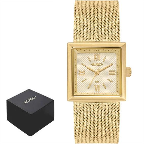Relógio Euro Feminino Casual Dourado Garanti Nf Eu2036yqi/4d