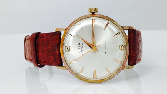 Reloj De Oro Sólido De 18k Marca Plaza Geneve (ref 1008)