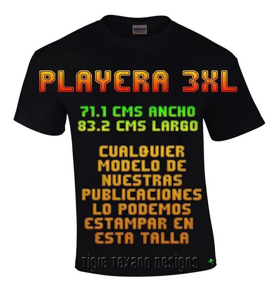 Playera 3xl Cualquier Modelo Catálogo Tigre Texano Designs
