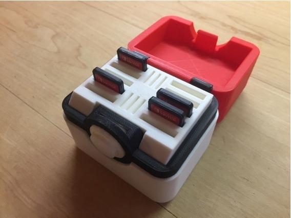 Caixa Porta Jogos E Cartão Sd Pokebox Nintendo Switch