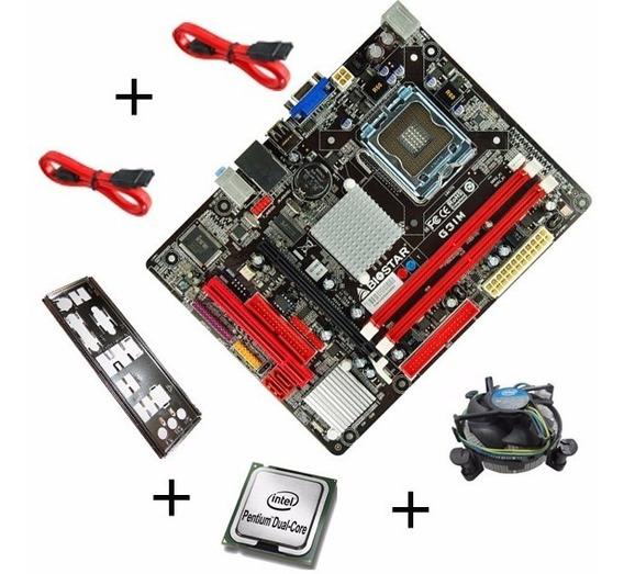 Placa Mae G31m Biostar Chipset G31 + Dual Core