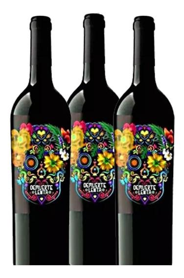 Combo 3 Pack Vino Blanco De Muerte Botella 0,75l Winery-on