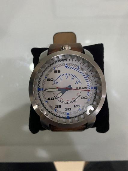 Relógio De Luxo Diesel Couro