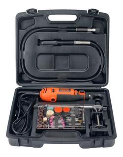 Mini Torno Manual Black+decker 120w Rt18k-ar 113 Piezas