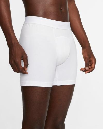 Imagen 1 de 3 de Boxer Calzoncillos Deportivo Hombre Nike Dry-fit Blanco