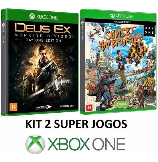 Deus Ex Mankind Divided + Sunset Overdrive Fisica Xbox One