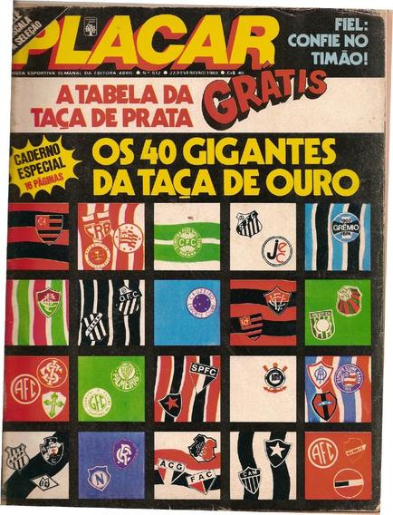 Revista Digitalizada Placar Guia Brasileiro 1980 + 2 Álbuns