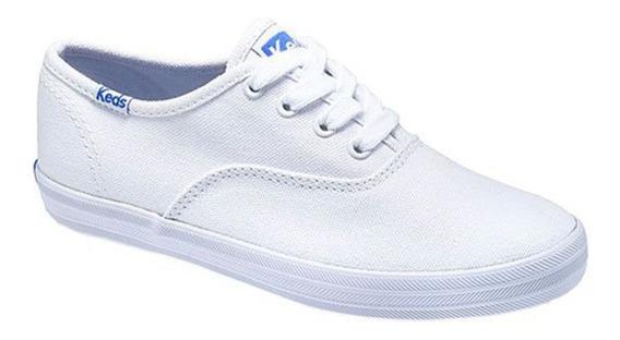 Tenis Keds Clasicos Blanco Tipo Vans Blanco Niña 20mx C34