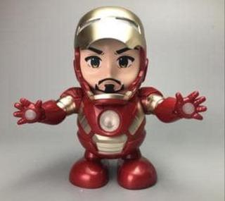 Iron Man Dance Hero Robot Bailarín Luces Y Sonido
