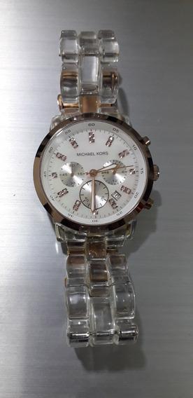 Relógio Michael Kors Mk5394 Rosa-transparente