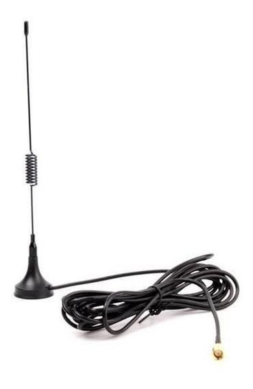 Antena Gsm 6dbi Para Rele Gsm 3m Base Magnetica Sma Macho