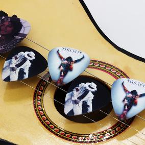 Palheta Personalizada Michael Jackson Violão Guitarra 4 Unid