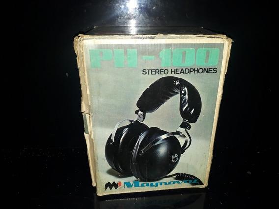 Fone De Ouvido Antigo Anos 70 Magnavox Ph-100 Caixa Sony A1