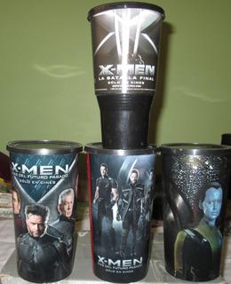 X-men. Lote De 4 Vasos Cinemex. Dias Del Futuro Pasado