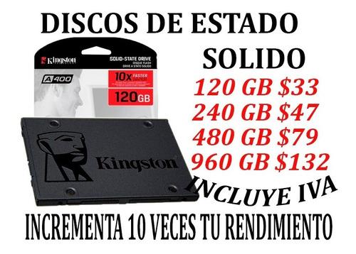 Discos Ssd Estado Solido Kingston 120gb 240gb 480gb 960 Iva