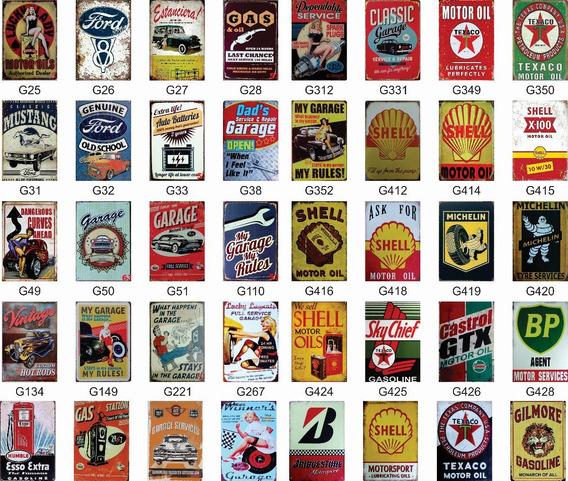 Carteles Chapa Litografiada Decoracion Vintage 30x20 A Seleccionar Del Catalogo