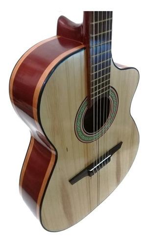 Guitarra Acústica Clásica Madera Cedro Y Pino Con Su Forro