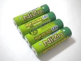 2 Bateria Pilha Recarregável Aa 1,6v 2500mah Nizn