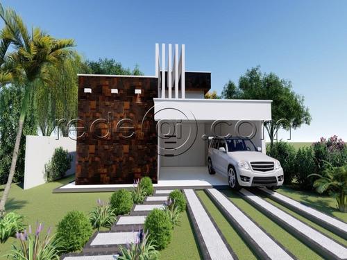 Imagem 1 de 5 de Casa 3 Quartos, 1 Suíte, Área Gourmet - Terras De Alpha  Senador Canedo - Go - Ca00290 - 68987739