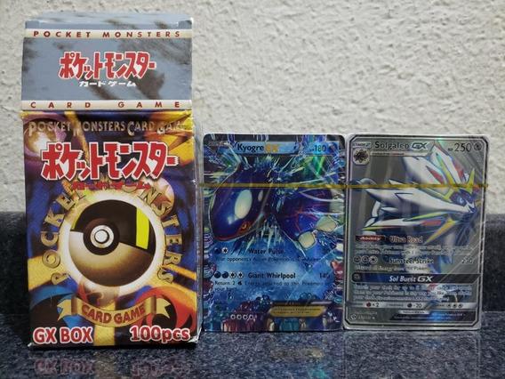 Pack 100 Cartas Pokémon Tcg - 20 Gx + 80 Ex - Versão Chinesa