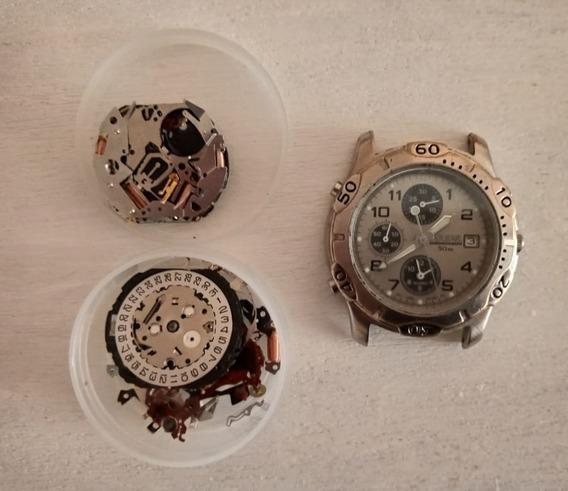 Reloj Pulsar Con Maquinas Seiko De Cronometro Y Alarma
