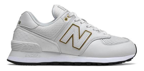 Tênis New Balance Wl574lde 574 Casual Branco Feminino
