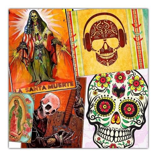 3 Posters Decoração Mexicana Caveira Mariachi Frida Pimenta