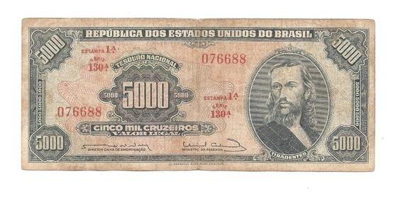 C057 - Cédula 5 Mil Cruzeiros - Tiradentes Carta Registrada