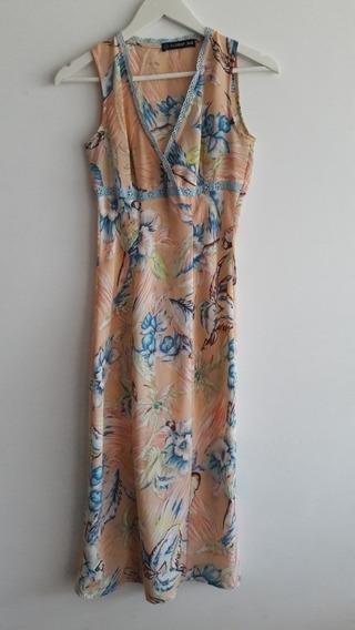 Vestido Vintage Floreado Talle Xs