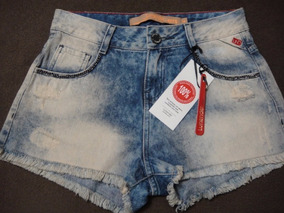 Shorts Jeans - Novo - Lunender T14 - Detalhe Correntes