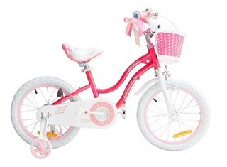 Bicicleta Infantil Royal Baby Star Girl Rosa Niña Rod 16 Usa