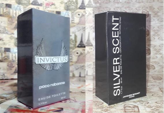 Kit Promoção Perfumes Masculinos,invictus / Silver Sent