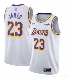 dise/ño de Lakers Championship Edition c/ómoda CLKI LeBron James New Season color blanco Camiseta de baloncesto para hombre transpirable
