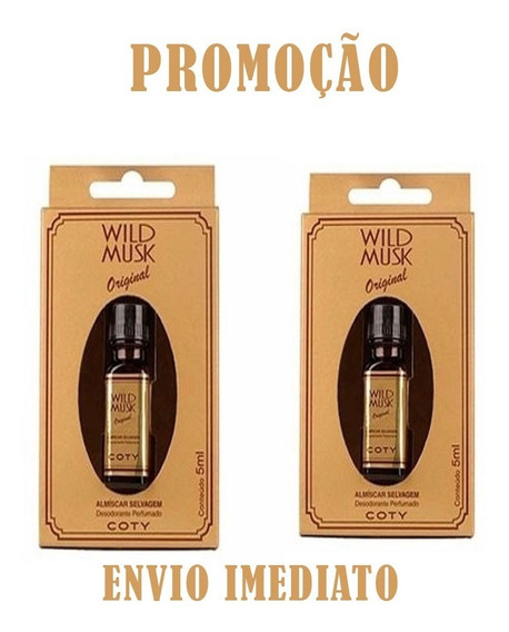 Óleo Perfumado Almiscar Selvagem Wild Musk 5ml C/2 Frasco
