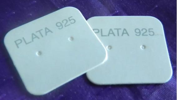 Carton Para Aros Fino X 200 Unidades Plata 925 N°1 + Cuota
