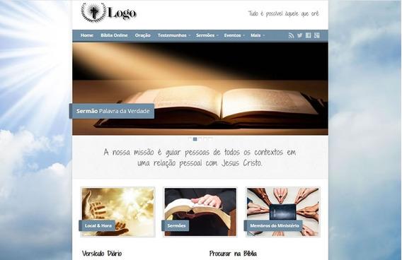Site Para Igrejas Com Hospedagem E Streaming