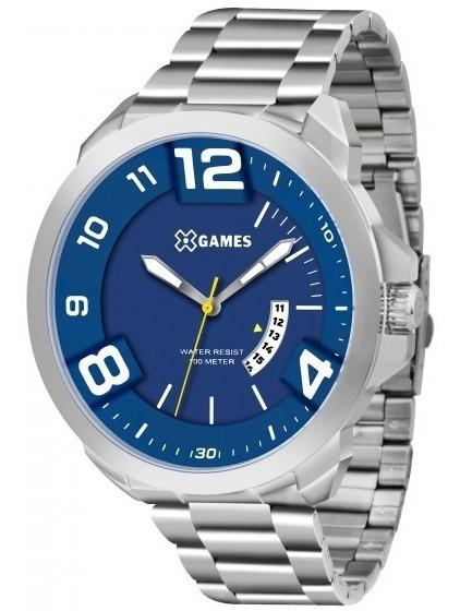 Relógio Xgames Xmss1034 D2sx Prata Redondo Aço - Refinado